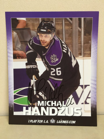 Michal Handzus Autographed  8 x 10 Player Card