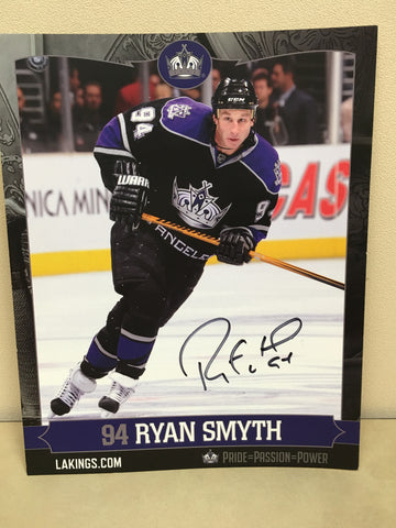 Ryan Smyth Autographed  8 x 10 Player Card