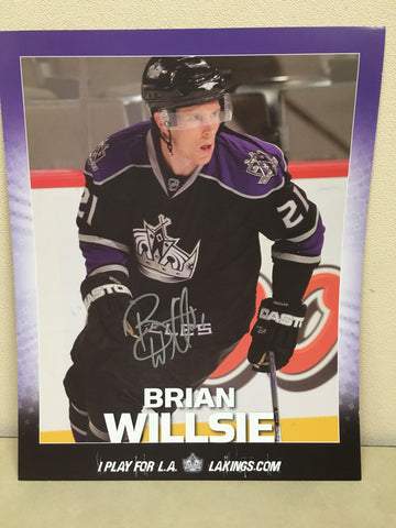 Brian Willsie Autographed  8 x 10 Player Card