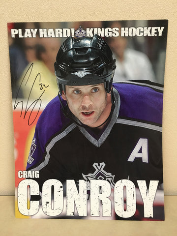 Craig Conroy Autographed  8 x 10 Player Card
