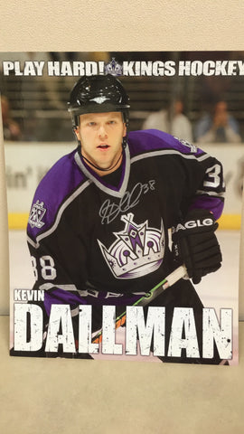 Kevin Dallman Autographed  8 x 10 Player Card