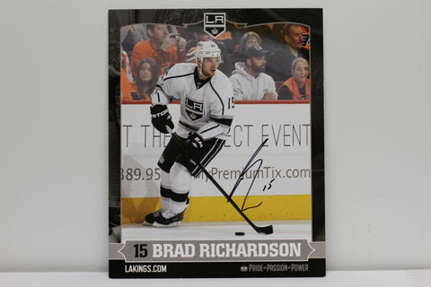 Brad Richardson Autographed  8 x 10 Player Card
