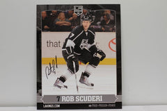 Rob Scuderi Autographed  8 x 10  Player Card
