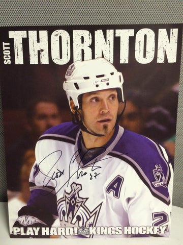 Scott Thornton Autographed 8 x 10 Player Card