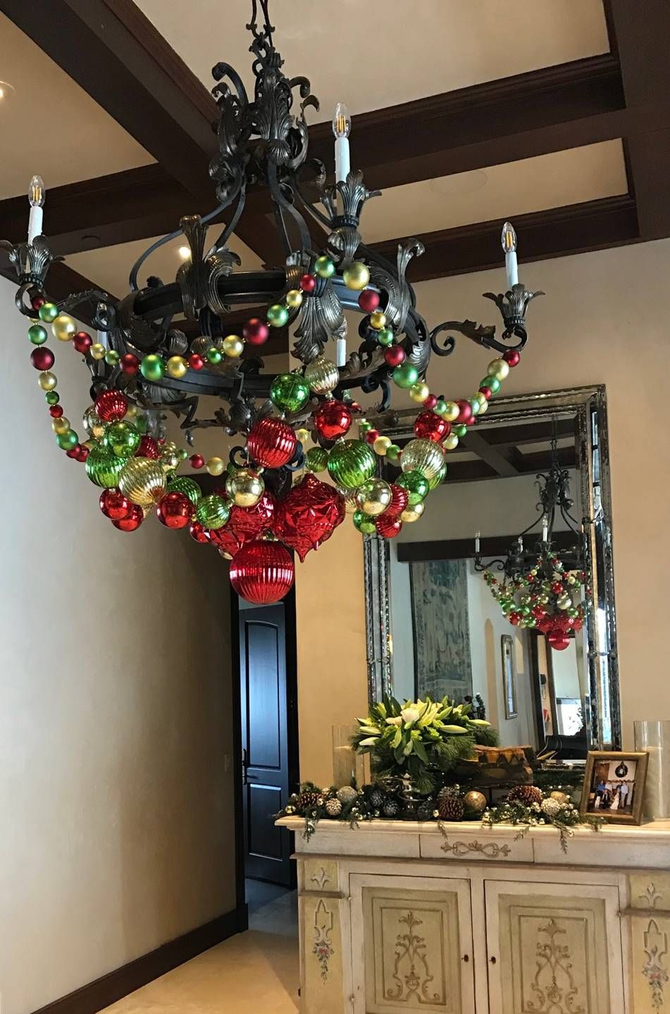 Entryway Holiday Chandelier