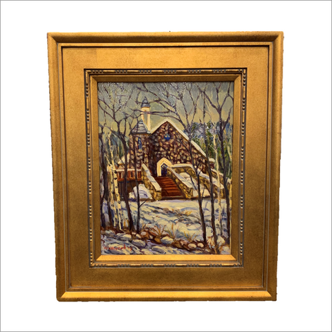 Beaver Creek Chapel in Winter Original Painting