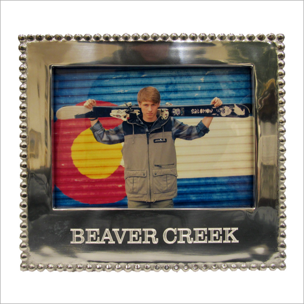 Beaver Creek Engraved Silver Picture Frame