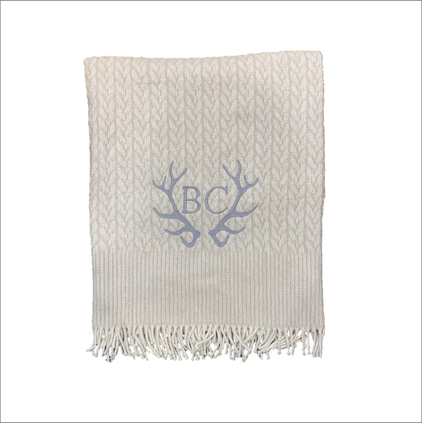 Beaver Creek Antler Cable Throw