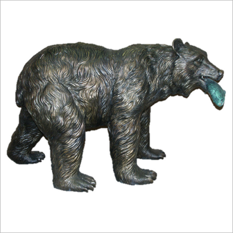 Bronze Bear Fishing