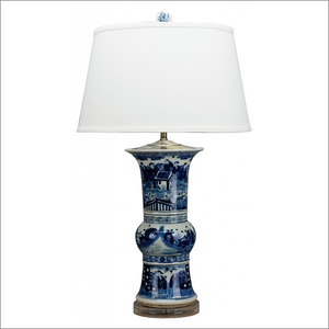 Blue & White Flower Vase Lamp
