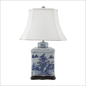 Blue & White Tea Jar Lamp