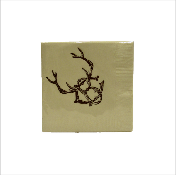 Beaver Creek Stag Paper Cocktail Napkins