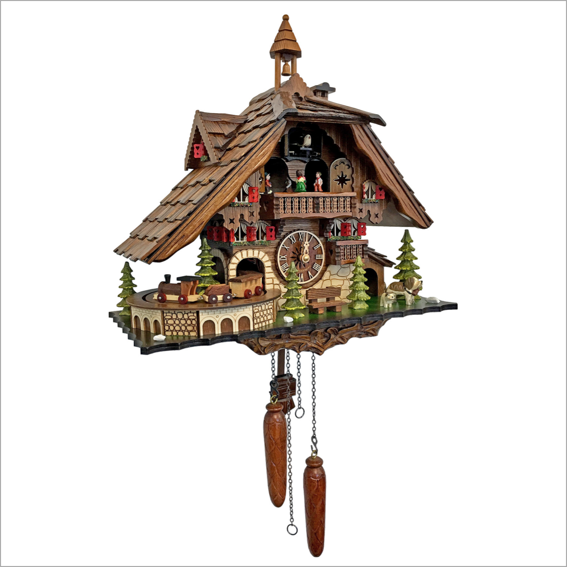 Cuckoo Clock with Moving Train
