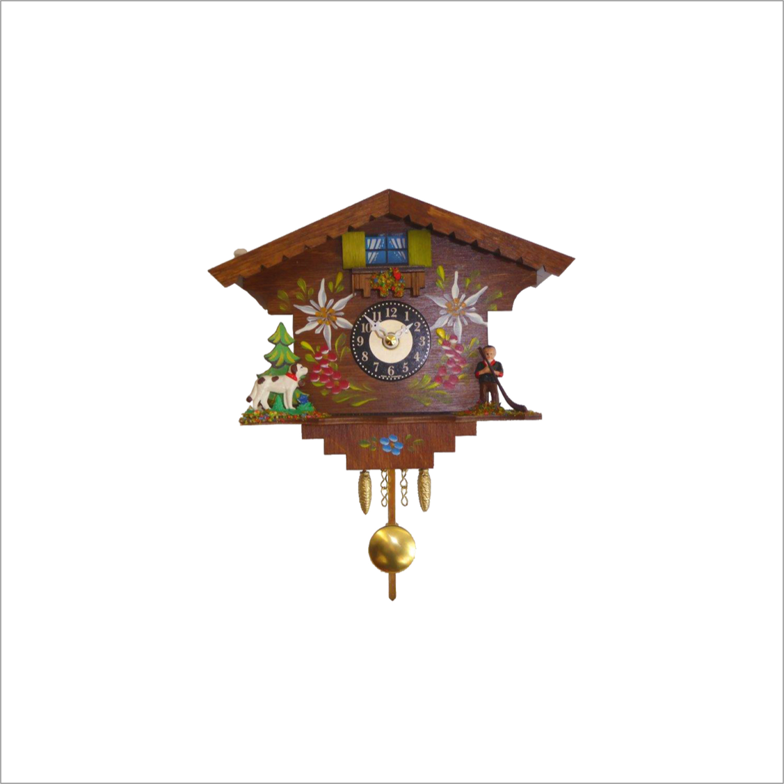 Mini Cuckoo Clock with Boy and Dog