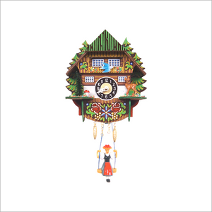 Mini Cuckoo Clock with Girl on a Swing