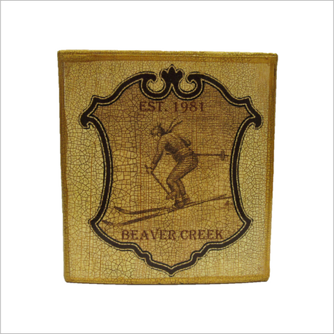 Beaver Creek Ski Badge Tissue Box