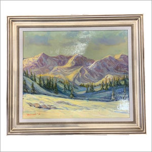 Colorado Mountain Peaks Original Oil Painting