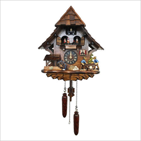 Cuckoo Clock with Two Man Saw