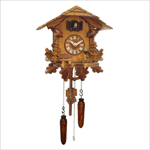 Cuckoo Clock with Oak Leaves