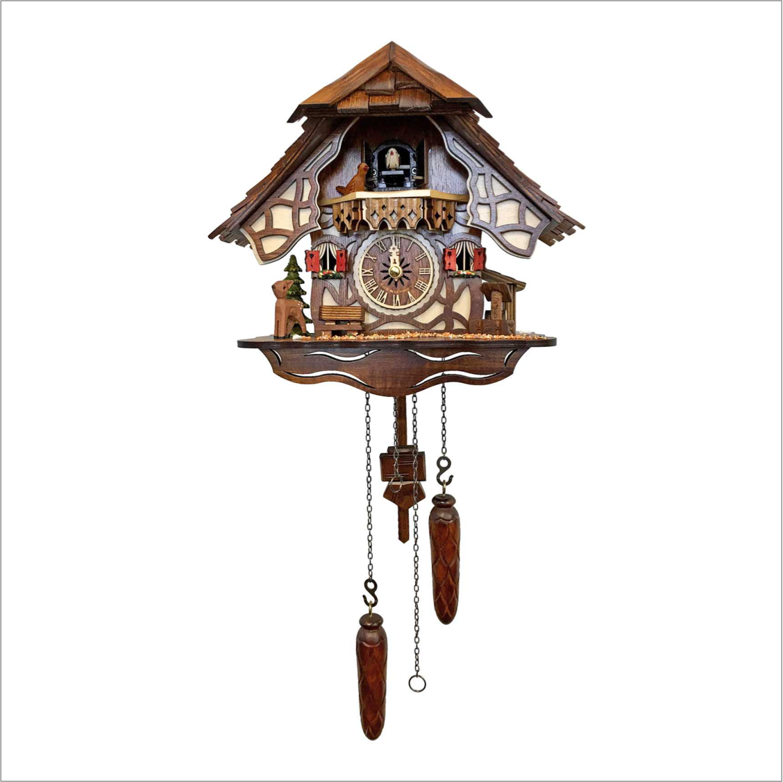 Cuckoo Clock with Woodland House