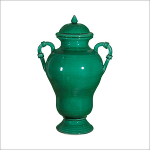 Green Handled Vase