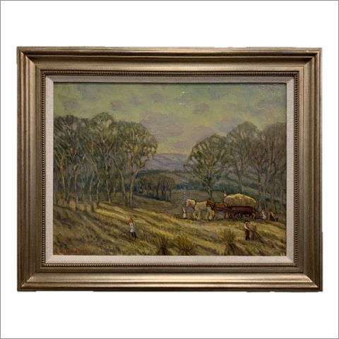 Harvest Time Original Oil Painting