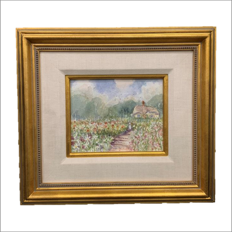 Holncote Garden Original Watercolor Painting