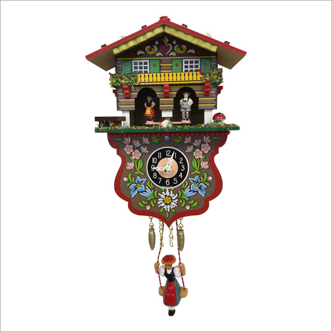 Mini Cuckoo Clock with Boy and Girl