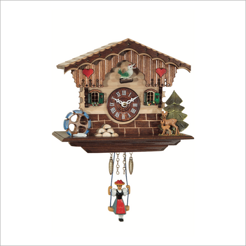 Mini Cuckoo Clock with Hearts