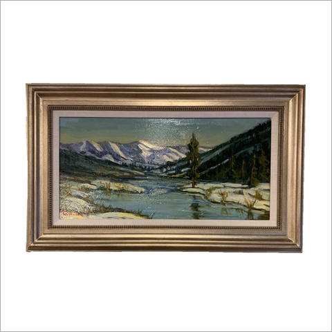Mountain Reflection Original Painting