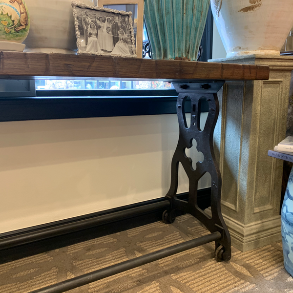 Reclaimed Railroad Flooring Console