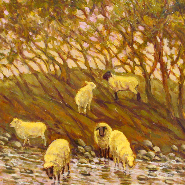 Sheep by Horner Stream Original Painting