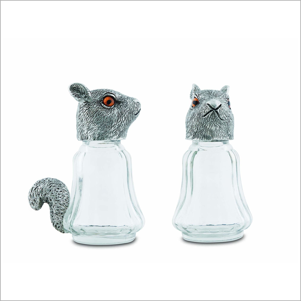 Squirrel Glass Salt and Pepper