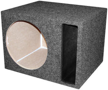"Load image into Gallery viewer, EMPTY WOOFER ENCLOSURE OBCON SINGLE 12"" SLOT VENTED;MDF"
