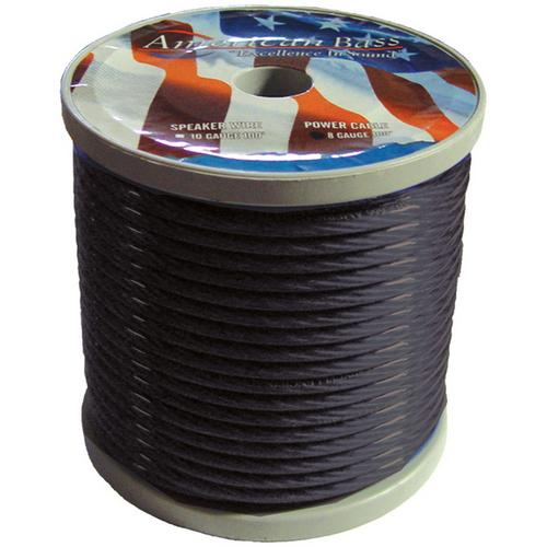 WIRE AMERICAN BASS 4 GA SMOKE COLOR 100 FT ROLL - AB1666BK *P4GB*