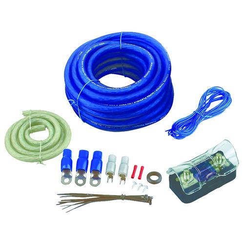 AMPLIFIER WIRING KIT 4GA;BULLZAUDIO;BLUE/GOLD EDITION; BOX