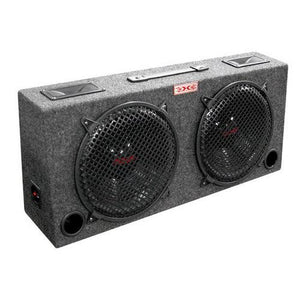 "WOOFER BOX DUAL 10"" XXX 2-WAY LOADED ANGLE STYLE; 300WATTS"