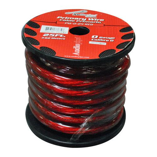 POWER WIRE AUDIOPIPE 0GA. 25' RED