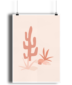 Load image into Gallery viewer, Cactus Days Bamboo Wall Print