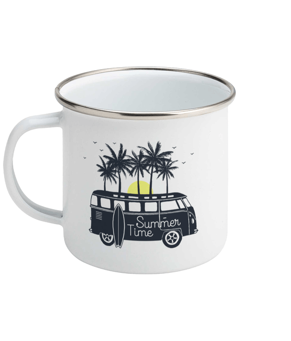 Summer Time Enamel Mug