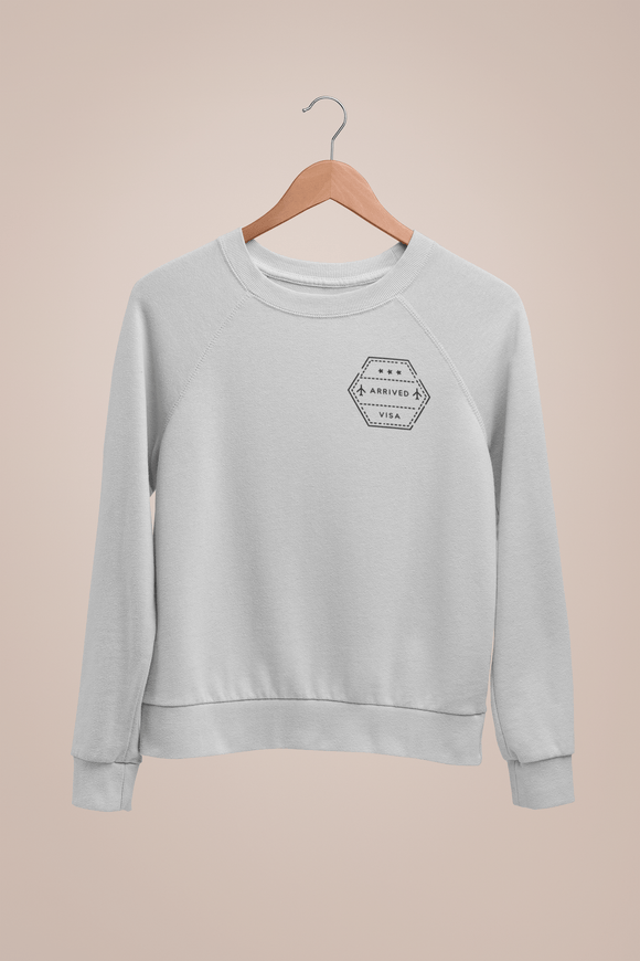 Arrival Passport Stamp Travel Sweatshirt