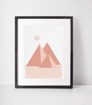 Load image into Gallery viewer, Pyramids Rise Bamboo Print