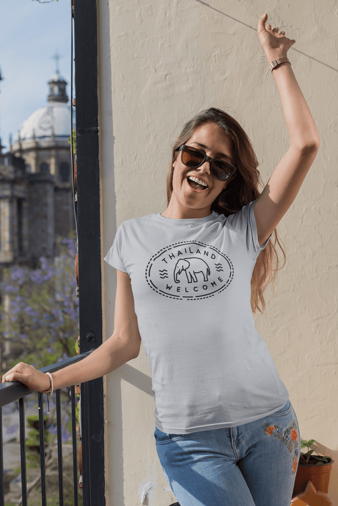Load image into Gallery viewer, Thailand Passport Stamp T-Shirt
