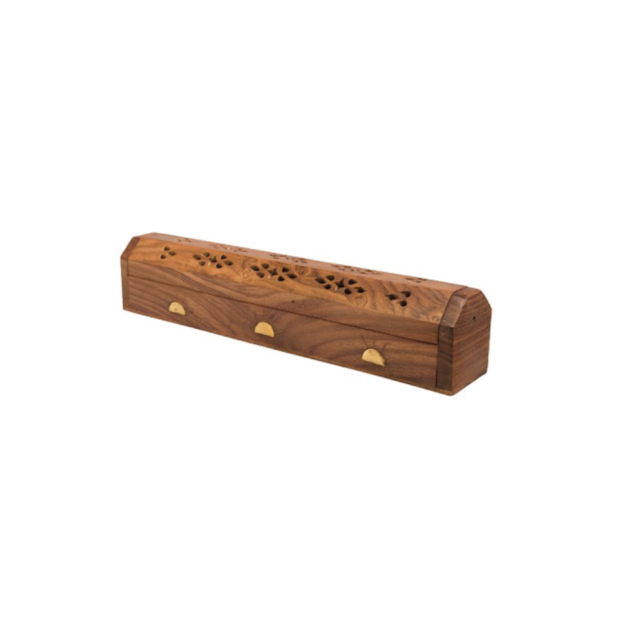 Brass & Inlay Wood Incense Holder