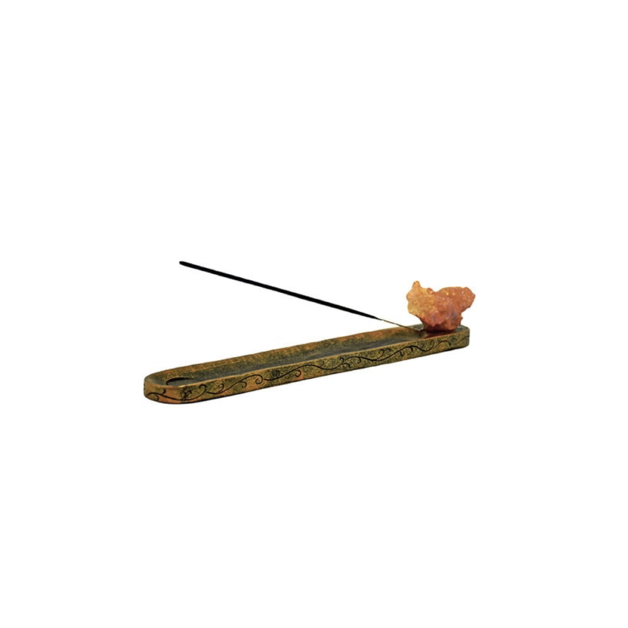 Orange Quartz Crystal Incense Burner
