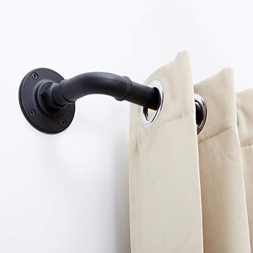 Nuts Style, 1 Inch Industrial Curtain Rod, Rustic Curtain Rod, Room Divider Curtain Rod