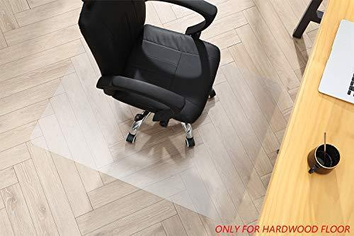"Polycarbonate Office Chair Mat for Hardwood Floor, Floor Mat for Office Chair (Rolling Chairs), Desk Mat & Office Mat for Hardwood Floor, Immediately Flat, 35""x47"""