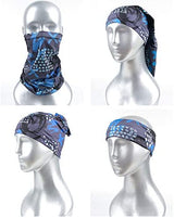 EZindoor 1 Pcs Seamless Face Mask Bandanas for Dust, Outdoors, Festivals, Sports