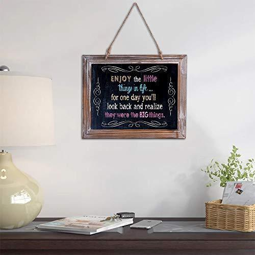 RHF Chalkboard Sign, Hanging Chalk Boards Signs, Chalk Board Easel,Rustic Wedding Chalkboards,Decorative Small Chalkboard,Set of 3