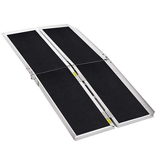 Extra Wide, 800 lbs Weight Capacity, Wheelchair Ramp, Ramps for Wheelchairs, Wheelchair Ramps for Home, Portable Wheelchair Ramp, Wheelchair Ramps for Steps, Multi-Fold, Aluminum Alloy